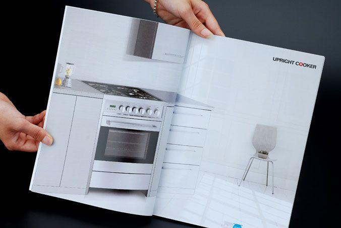 大气的整体厨具的画册
