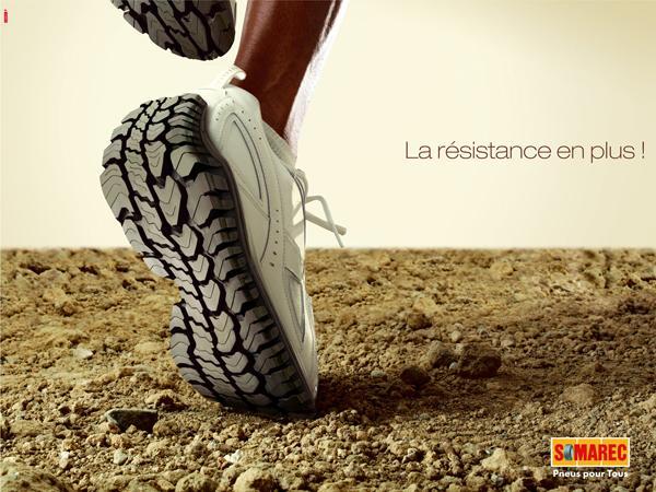 创意轮胎广告