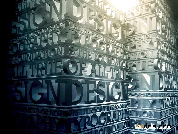 超强表现力三维立体3D文字欣赏
