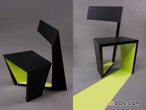 英文字母a式创意椅子造型设计