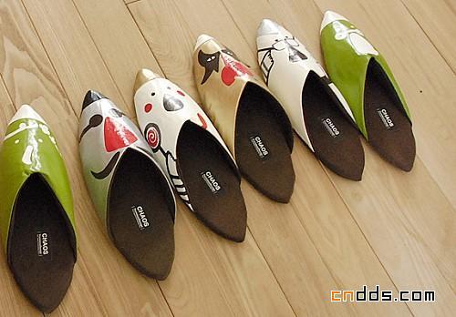 日本风味的拖鞋