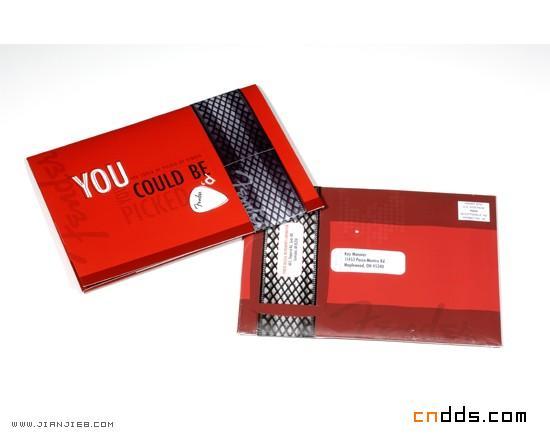 红色折叠式小卡片