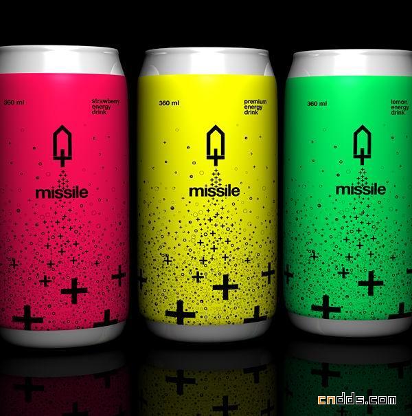 Missile能量饮料品牌VI设计