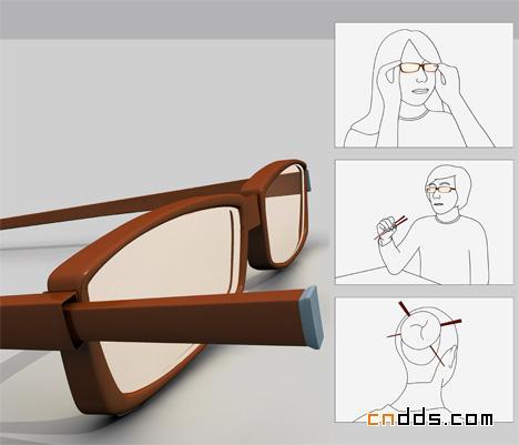 眼镜于筷子的结合创意-cnd设计网