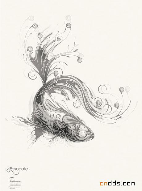 优美线条构成的动物图片