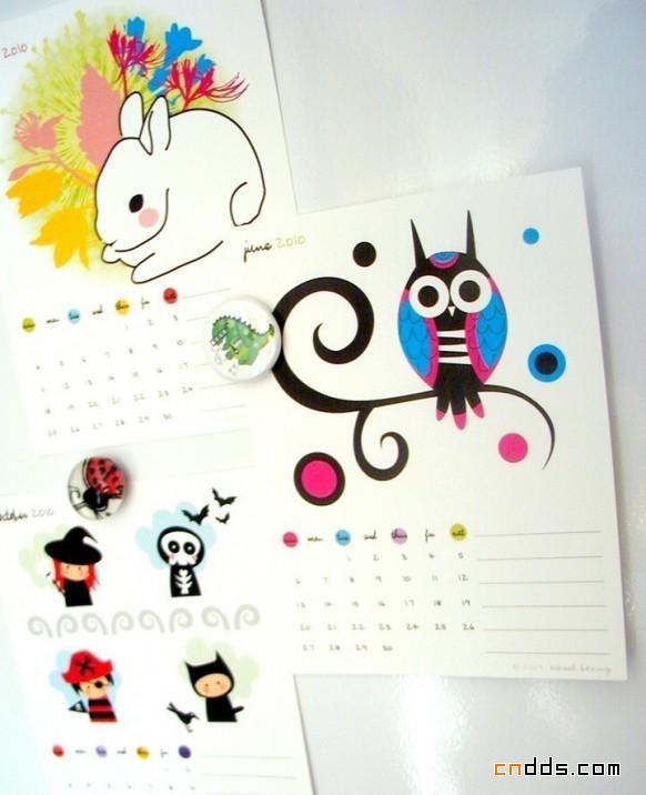 几款好看的2010年日历设计