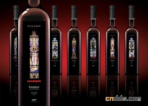 奢侈性感的葡萄酒包装设计