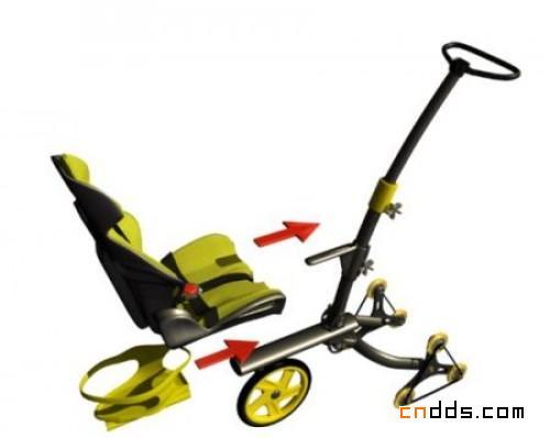 方便爬台阶的多功能婴儿车