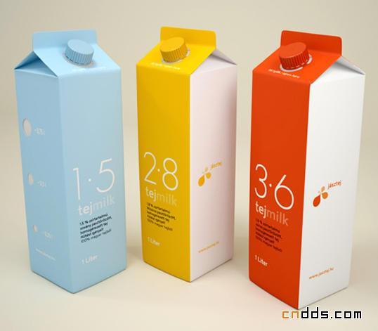 明亮流畅的乳品包装设计