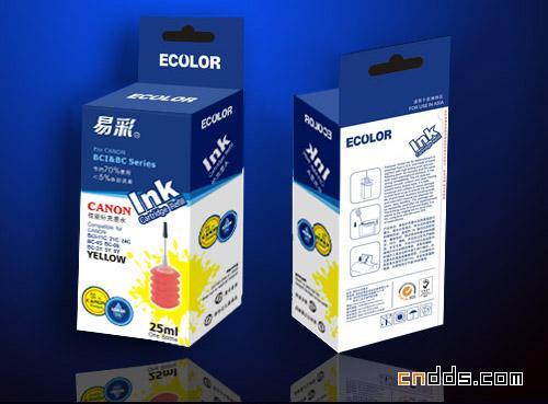 一组独特的墨盒包装设计装修设计比例水电图片