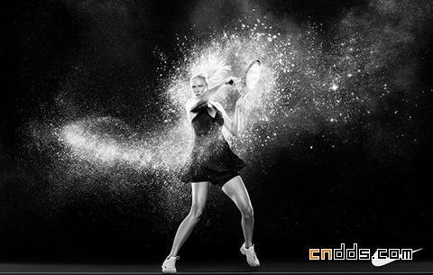 力量之美—耐克黑白宣传海报欣赏
