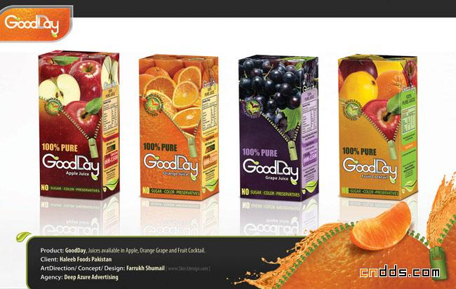 几款国外果汁包装创意设计