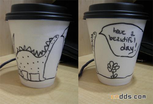 30款创意咖啡纸杯设计欣赏图片