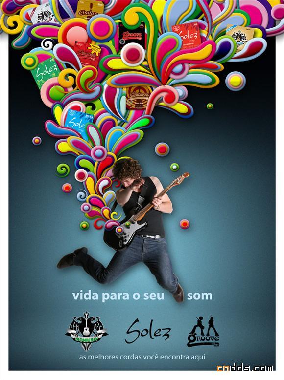 40张创意音乐海报设计欣赏