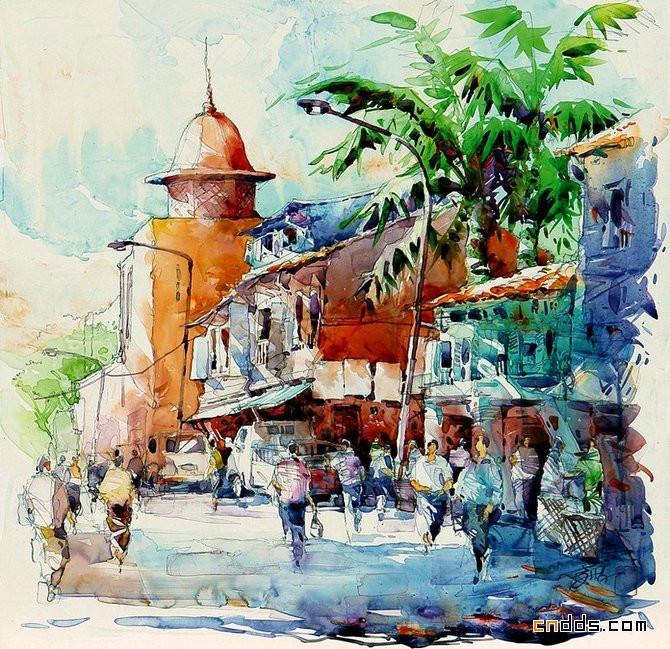 国外水彩画作品欣赏