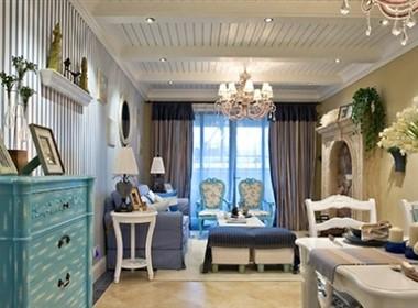 嘉宏湾清新雅致室内设计 地中海样板房