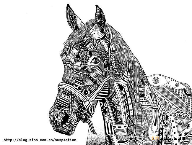 经典的黑白插画欣赏