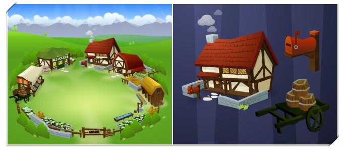 分享QQ阳光牧场3D设计