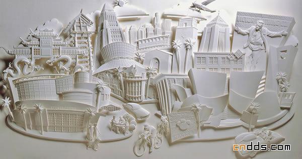 美国艺术家美妙的立体纸雕艺术