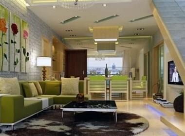 现代小复式客厅设计欣赏