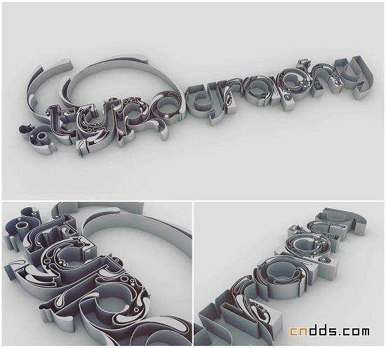 创意3d文字设计(二)-中国设计网