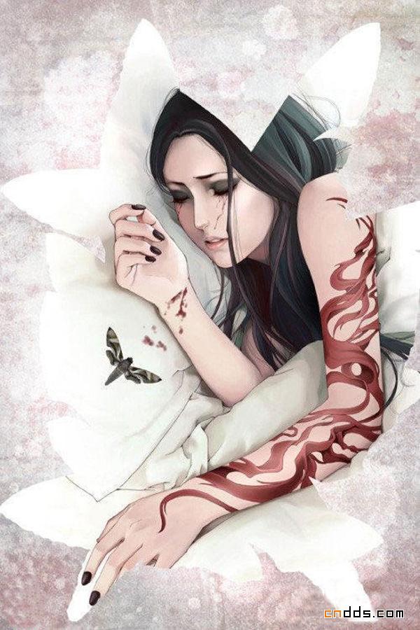 现代版另类中国风唯美插画作品