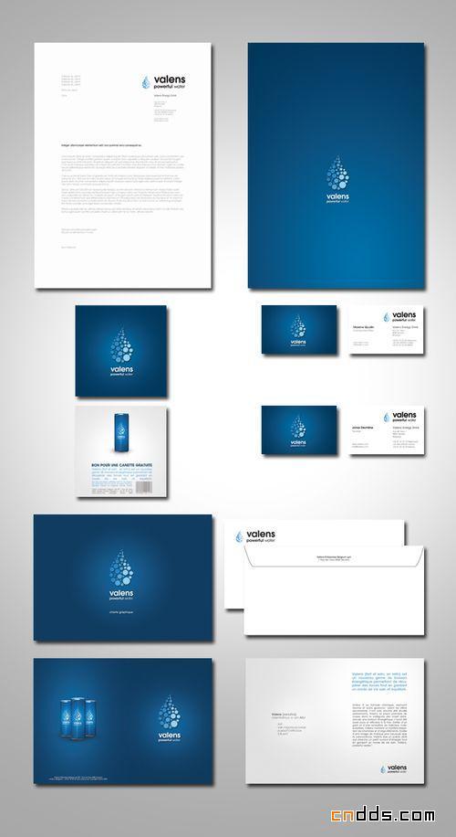 国外公司信纸和信封设计