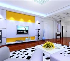 弥漫的时尚色彩的客厅设计