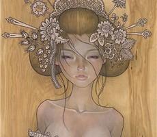 木板上的绘画艺术