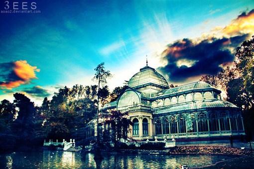 建筑和自然的美丽摄影艺术