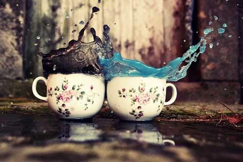 """激情四射的""""冲撞茶杯""""主题的摄影"""