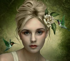 Elenadudina是西班牙美女艺术家