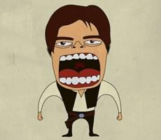 怒吼的角色独特画风的国外插画欣赏