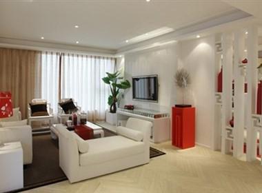 那一抹红的鲜艳中式家装