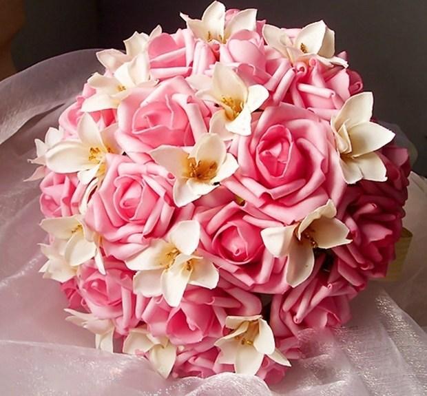 韩式浪漫色动人新娘绚烂手捧花