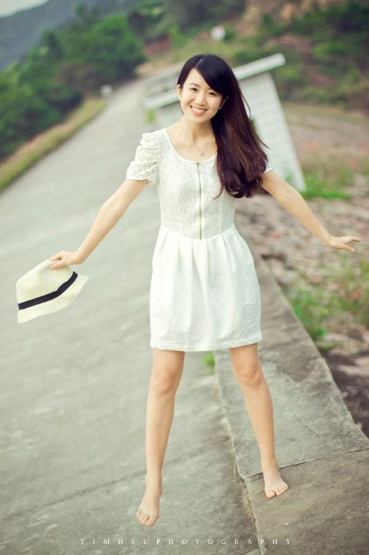 甜美的微笑伴你一路前行唯美摄影