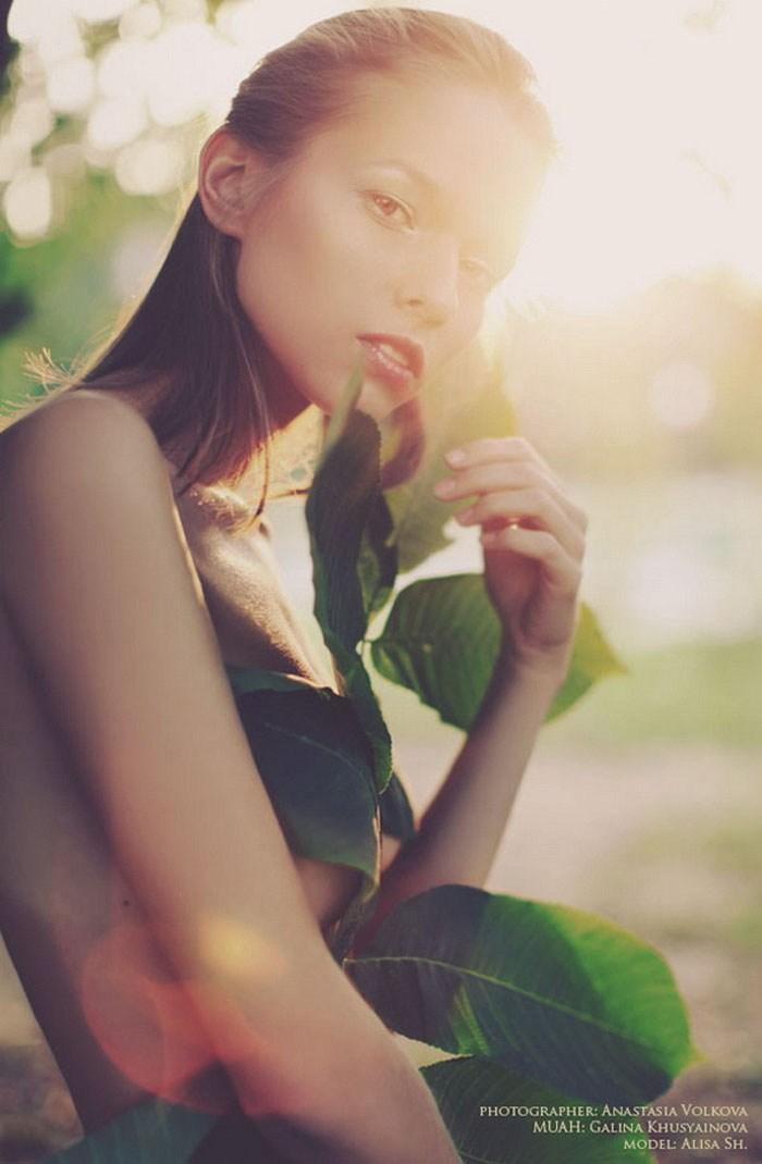 阳光下温馨你的眼眶唯美人物摄影