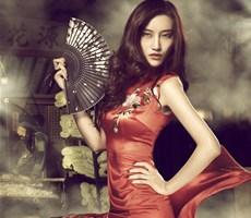 平面模特徐茜儿中国风摄影作品欣赏