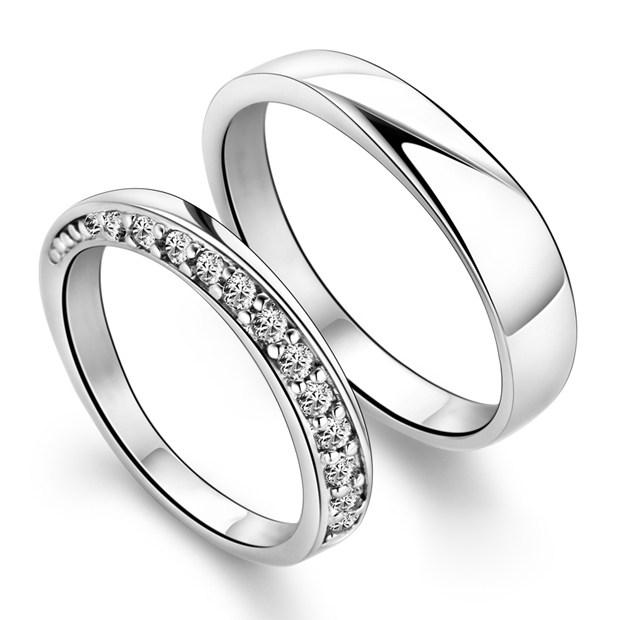 简单爱纯情唯美银饰戒指设计欣赏