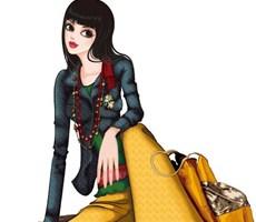总有一款适合你--时尚女孩插画欣赏