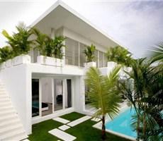 时尚典雅巴厘岛双层白别墅