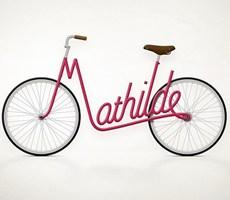 写字的自行车是不是很有创意呢