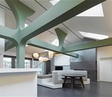 德国斯图加特公寓时尚线条室内设计欣赏