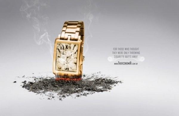 一组国外创意禁烟公益广告分享