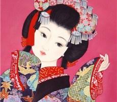 日本古代女子插画