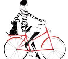 时尚女子的速成插画
