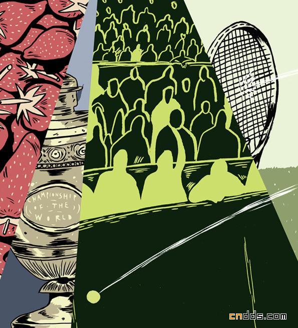 2012温布尔登网球公开赛官方海报