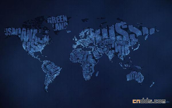 充满创意的世界地图fisher