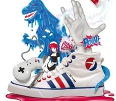 运动鞋品牌创意海报