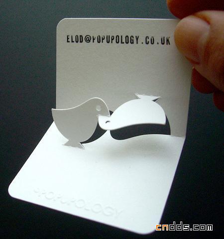 很有创意的3D立体名片